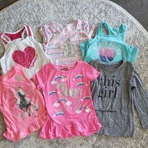 Other - ✏ Girls shirt lot size 4-5, 6 piece set!